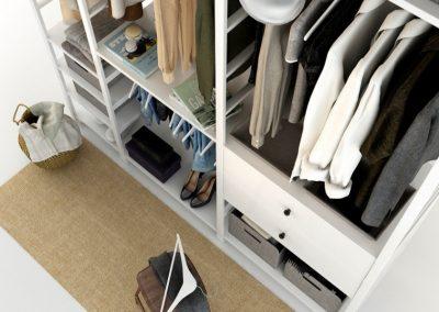 Cloth Ladies Wardrobe 3D Model 3