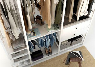 Cloth Ladies Wardrobe 3D Model 4