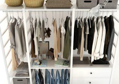 Cloth Ladies Wardrobe 3D Model 6