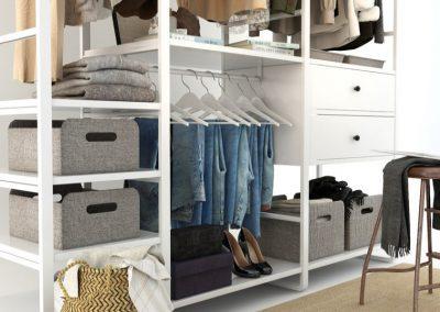 Cloth Ladies Wardrobe 3D Model 7