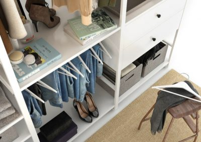 Cloth Ladies Wardrobe 3D Model 8