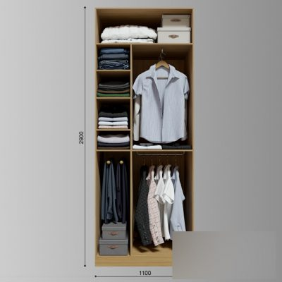 Clothes Wardrobe Set-01 3D Model