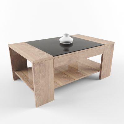 Coffee Table Set-01 3D Model