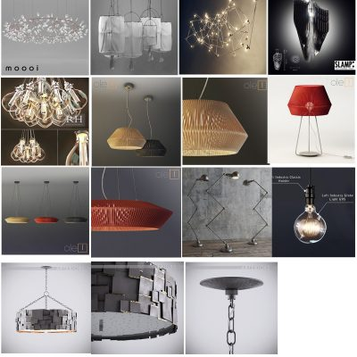 Collection of Padent lights 2 3D Model
