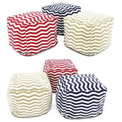 Collection of Pouf 3D model 2