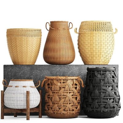 Collection of baskets Ditim 3D model