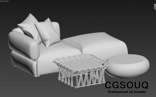 Collection of outdoor furniture 3d model (1)