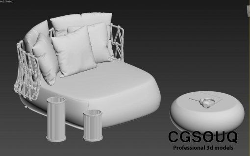 Collection of outdoor furniture 3d model (10)