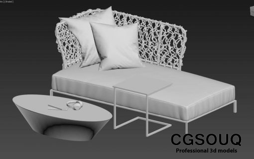 Collection of outdoor furniture 3d model (2)
