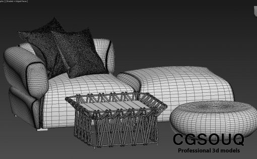 Collection of outdoor furniture 3d model (8)