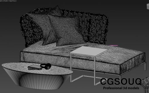 Collection of outdoor furniture 3d model (9)