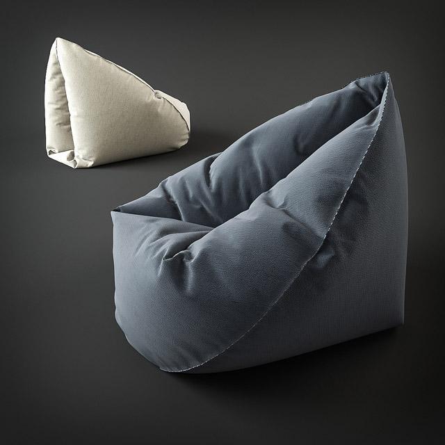 Groovy Comfy Bean Bag 3D Model Pabps2019 Chair Design Images Pabps2019Com