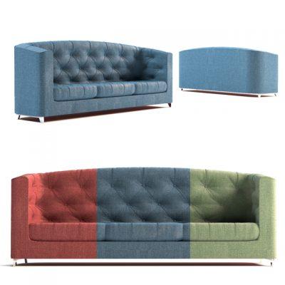 Comfy Sofa Set-02 3D Model