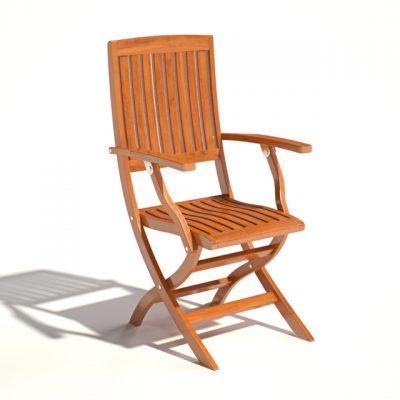 Como Teak Chair 3D Model
