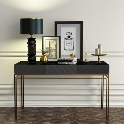 Console Table with Decor Set 3D Model