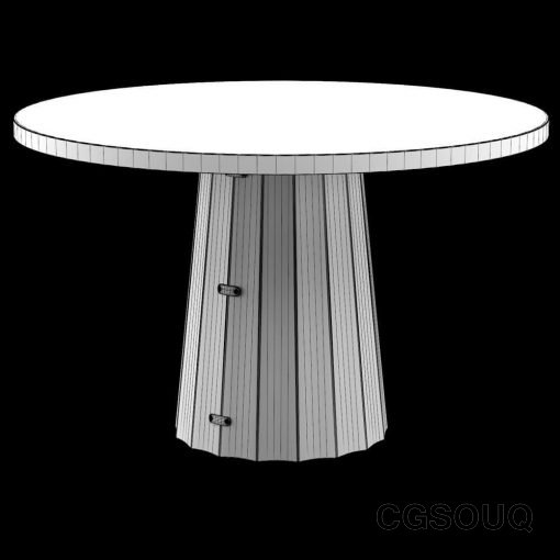 Container Table Bodhi with Linoak Top 3D model (9)