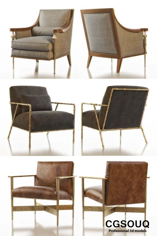Contemporary Chair Pack - Set III 3D model 3