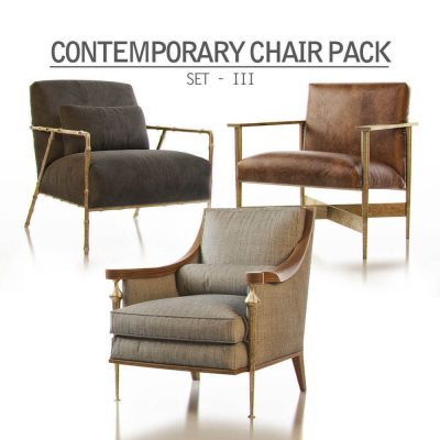 Contemporary Chair Pack – Set III 3D model
