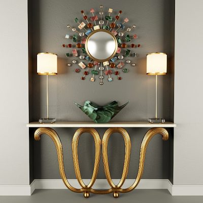 Contemporary Console Table 3D Model