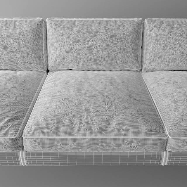 Contemporary Standard Felix Sofa 3D Model 2