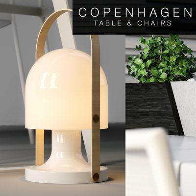 Copenhagen Table & Chair 3D Model