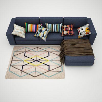 Corner Sofa-01 3D Model
