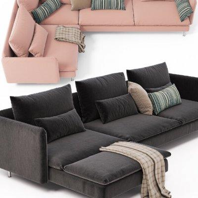 Corner sofas Ikea SODERHAMN 3D Model 2