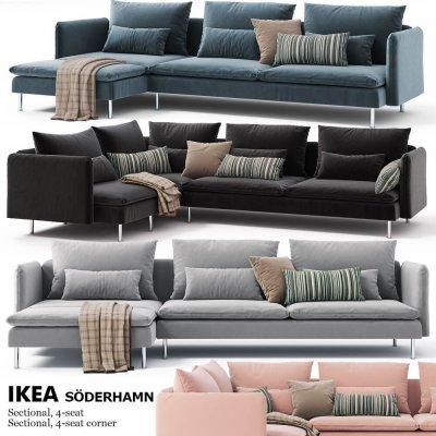 Corner sofas Ikea SODERHAMN 3D Model