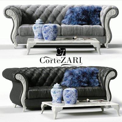 Corte Zari sofa 3D model 1