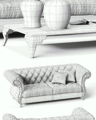 CorteZARI Gabreil Sofa 3D Model