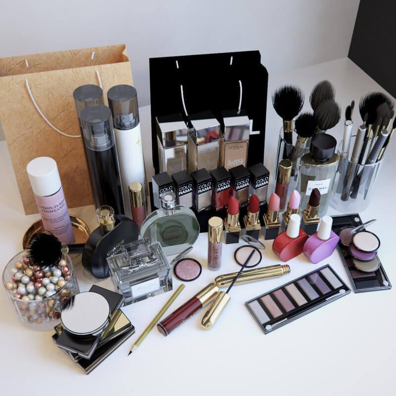 Cosmetics 3d Model For Download Cgsouq Com