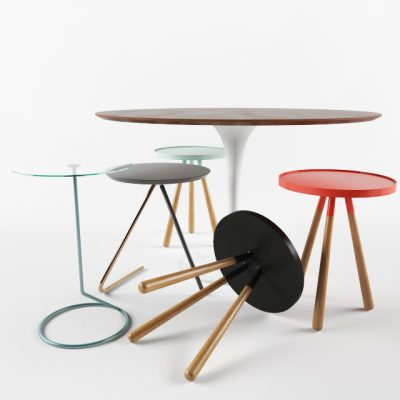 Cosmo Table And Stools 3D Model
