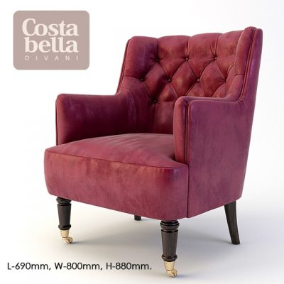 Costa Bella Candice Armchair 3D Model
