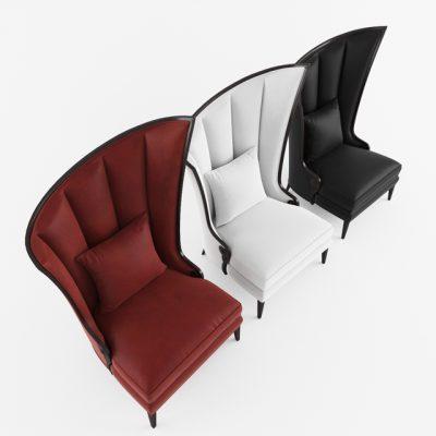 Courbure Droite Armchair 3D Model