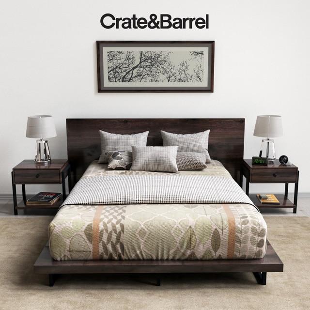 Crate Barrel Bedroom Set 3d Model For Download Cgsouq Com