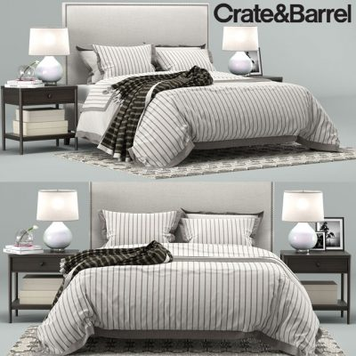Crate & Barrel Cole Bedroom 3D Model