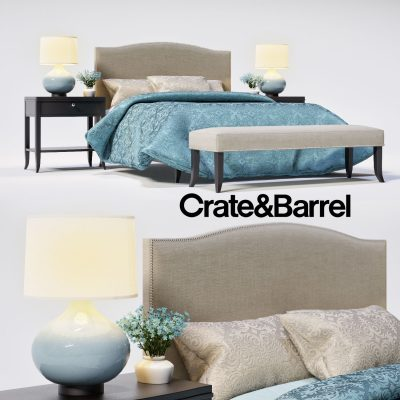 Crate & Barrel Colette Bed 3D Model