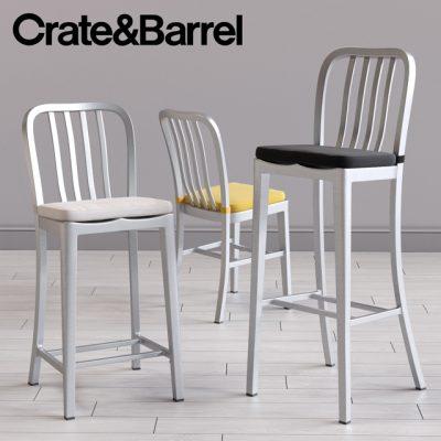 Crate & Barrel Delta Dining And Bar Chair 3D Model