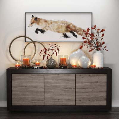 Crate & Barrel Fox & Candles – Sideboard 3D Model