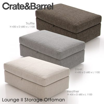 Crate & Barrel Lounge-II Storage Ottoman 3D Model