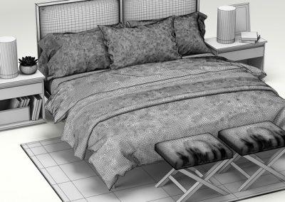 Crate & Barrel Oliver Bedroom 3D Model 2
