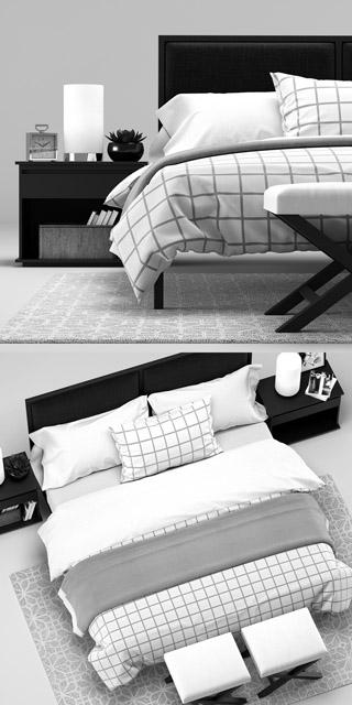 Crate & Barrel Oliver Bedroom 3D Model 3