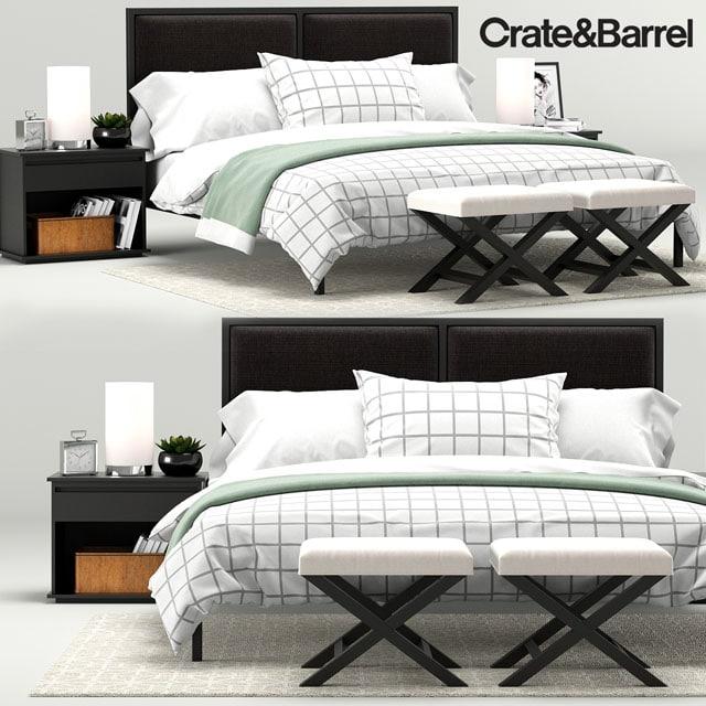 Crate & Barrel Oliver Bedroom 3D Model