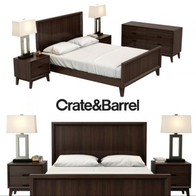 Crate & Barrel Steppe Collection Bed 3D Model