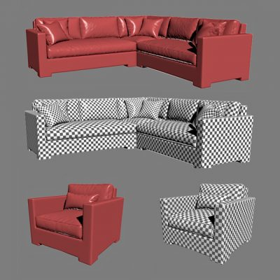 Crate & Barrel – Ventura Lounge Collection – Set-01 3D Model