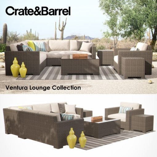 Crate & Barrel - Ventura Lounge Collection - Set-01 3D Model
