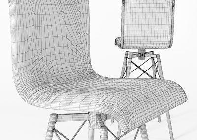 Crenshaw Leather Bar Stool 3D Model 3