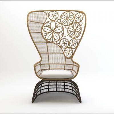 Crinoline Patricia Urquiola Chair 3D Model