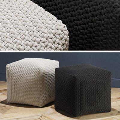 Crochet Pouf 3D Model
