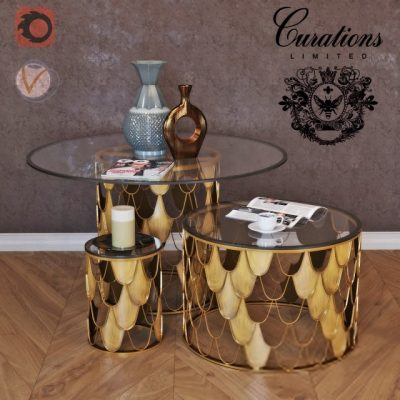 Curations Limited Moscow Table 3D Model